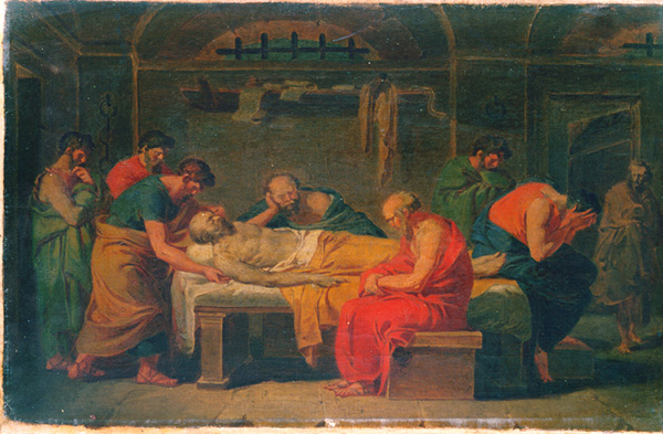 Lamentation over the Corpse of Socrates—Vincenzo Camuccini