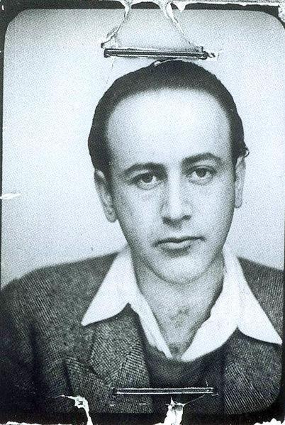 Passport photo of Paul Celan