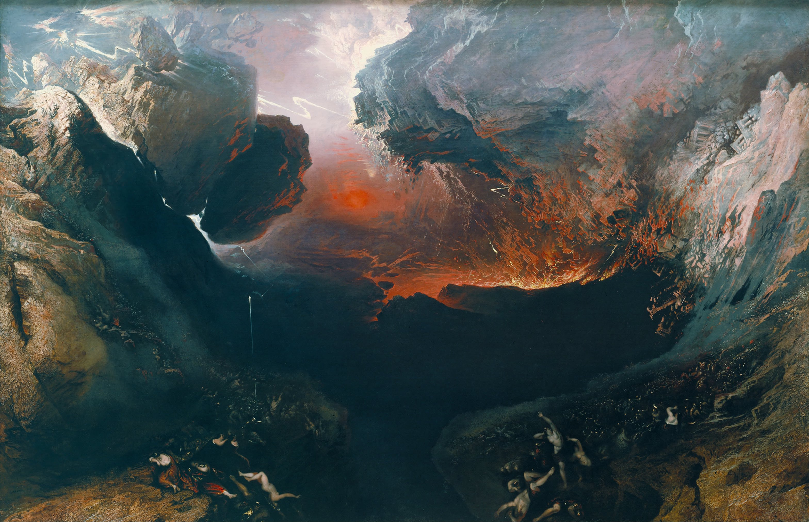 """The Great Day of His Wrath,"" by John Martin (1789-1854), at the Tate Britain. Photograph in the public domain, via Wikimedia Commons."