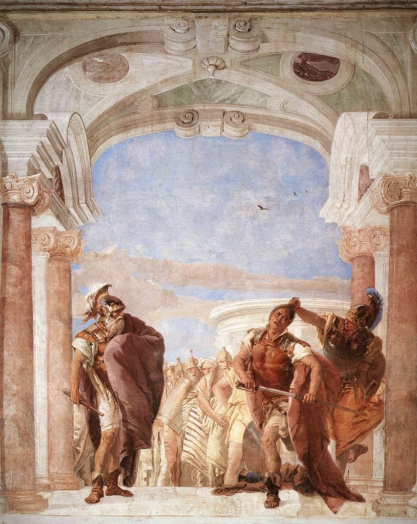 """""""The Rage of Achilles,"""" by Giovanni Battista Tiepolo, 1757, [public domain], via Wikimedia Commons"""