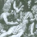 detail Nenci Makhaon heals Menelaos