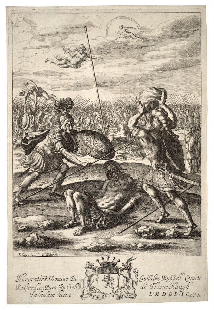 """Aeneas and Diomedes."" Wenceslaus Hollar (Bohemian, 1607–1677). Photo via Wikimedia Commons."