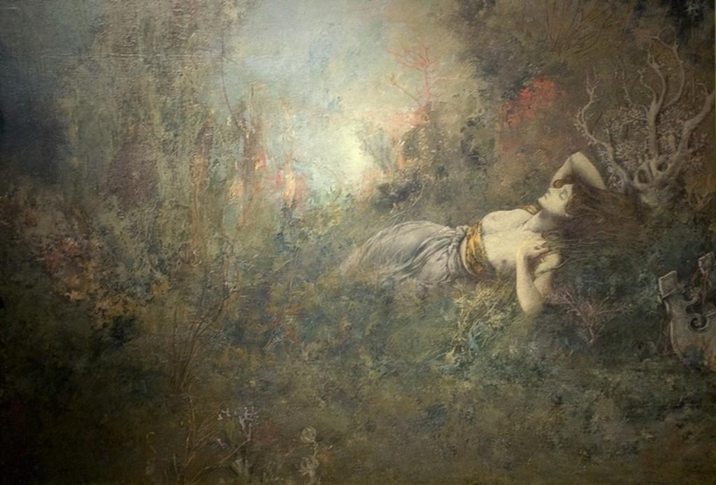 """Sappho"" (1893). Cornelis Ary Renan (French, 1858–1900). Image via Wikimedia Commons."