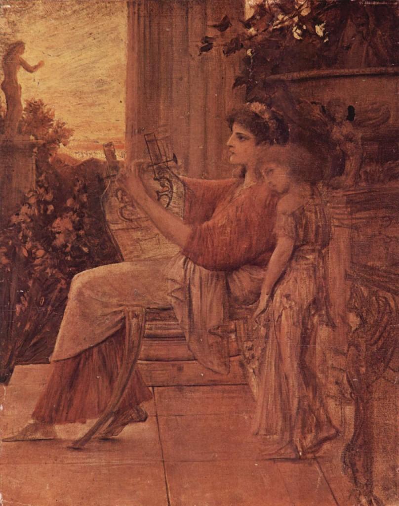 """Sappho"" (1888). Gustav Klimt (Austrian, 1862–1918). Image via Wikimedia Commons."
