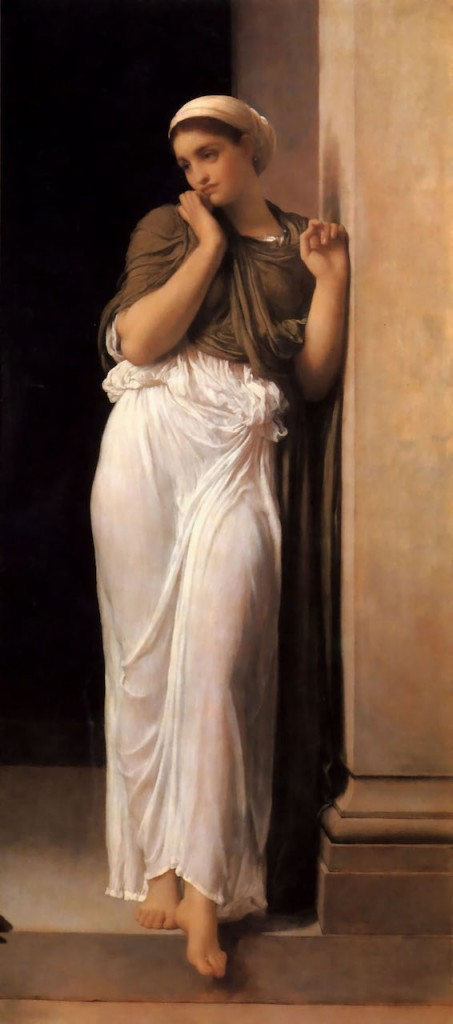 """Nausicaa"" (1878), Frederick Leighton (English, 1830–1896).Image via Wikimedia Commons."
