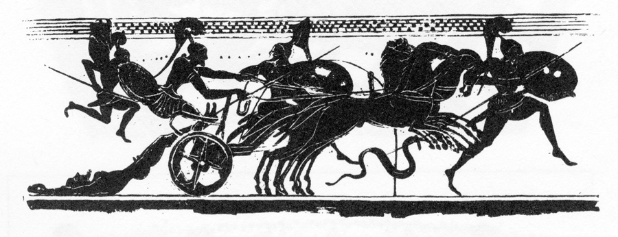 Figure 3. Lekythos; Louvre CA 601; Stähler no. 7.