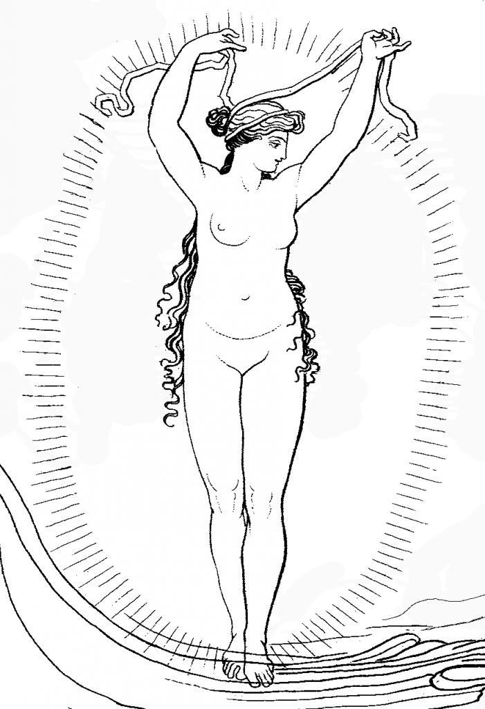 Ino, by her name Leukotheā, the White Goddess.