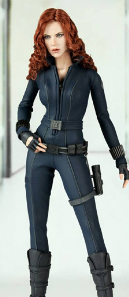 Action figure (2010) depicting Scarlett Johansson in the role of Black Widow / Natasha Romanoff in Iron Man 2.