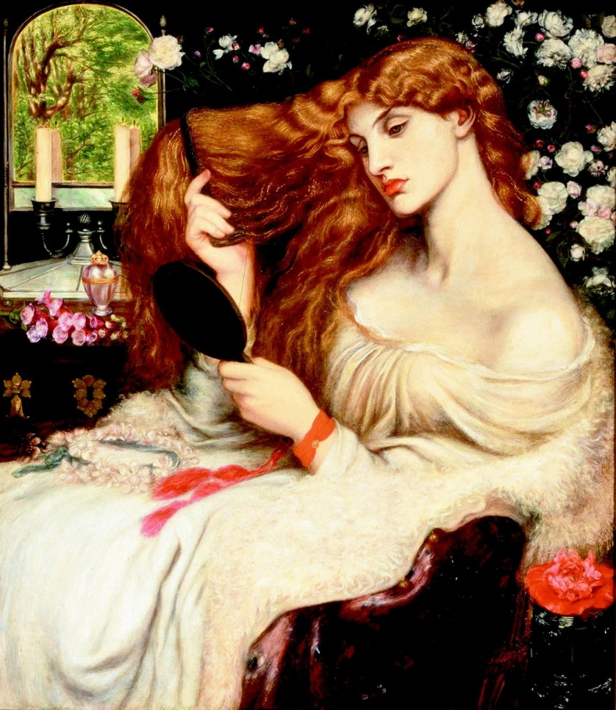 """Lady Lilith"" (finished 1873). Dante Gabriel Rossetti (English, 1828–1882)."
