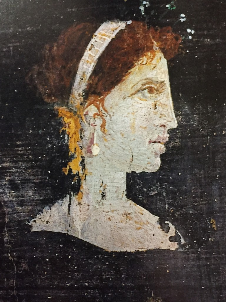 Painting from Herculaneum of a woman with features resembling those of Cleopatra (1st century CE).