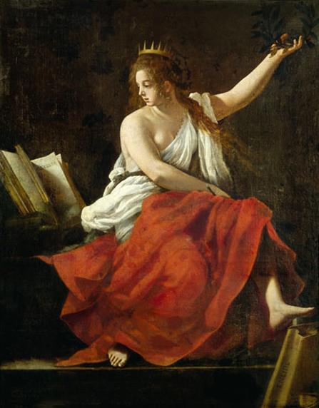 """""""Calliope, Muse of Epic Poetry"""" (1620). Giovanni Baglione (1566–1643)."""