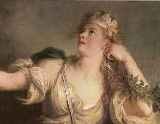 """""""The Muse Calliope"""" (about 1730). Charles Antoine Coypel (1694–1752)."""
