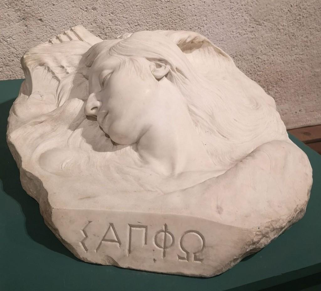Head of Sappho (between 1896 and 1898). Located at Castello Ursini, Catania.