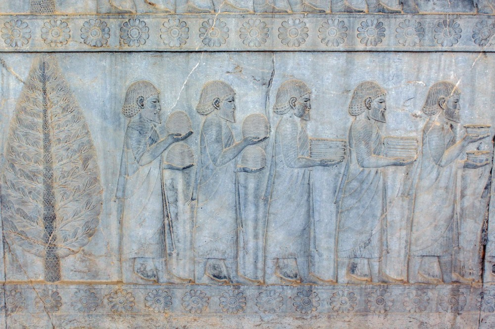 Ionians depicted in the Apadana relief, Persepolis.