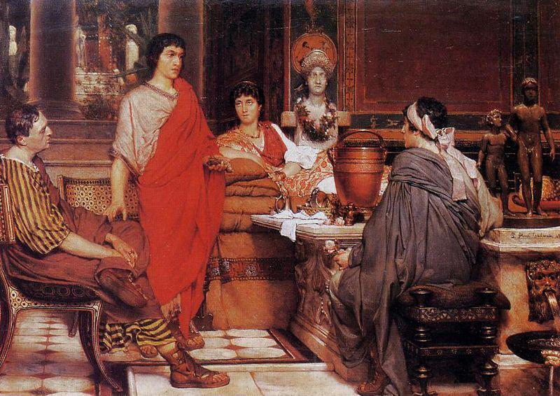 """Catullus at Lesbia's"" (1865). Lawrence Alma-Tadema (1836–1912)."