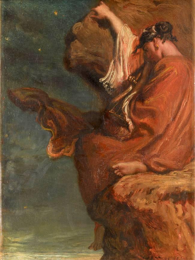 """Sapho"" (1849), by Théodore Chassériau (1819–1856)."