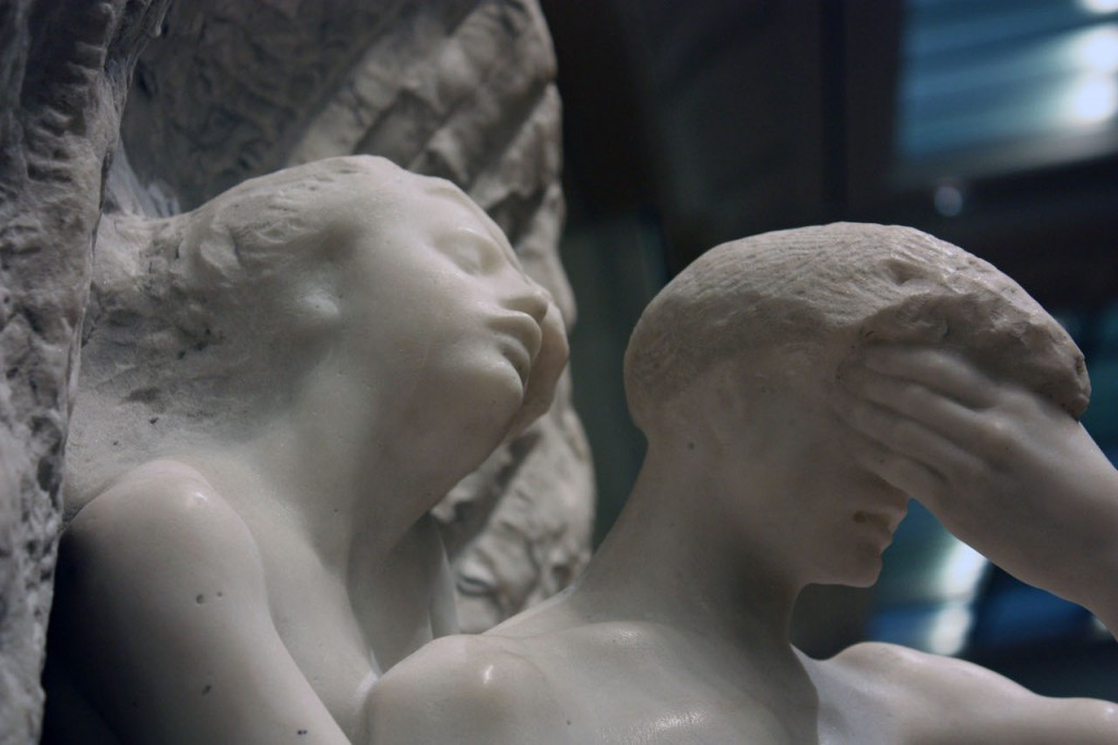 Orpheus and Eurydice (modeled before 1887, carved 1893). August Rodin (1840–1917).