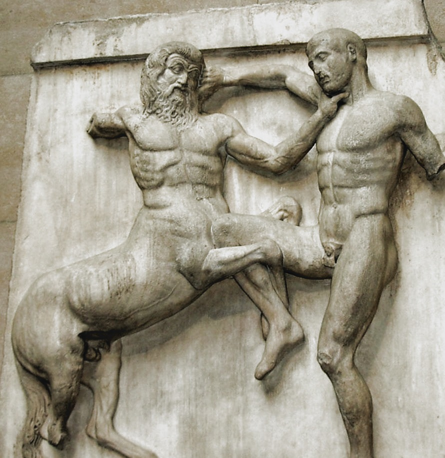 A Lapith and a Centaur. Parthenon, South Metope 31.