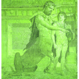Chiron_instructs_young_Achilles_-_Ancient_Roman_fresco_325