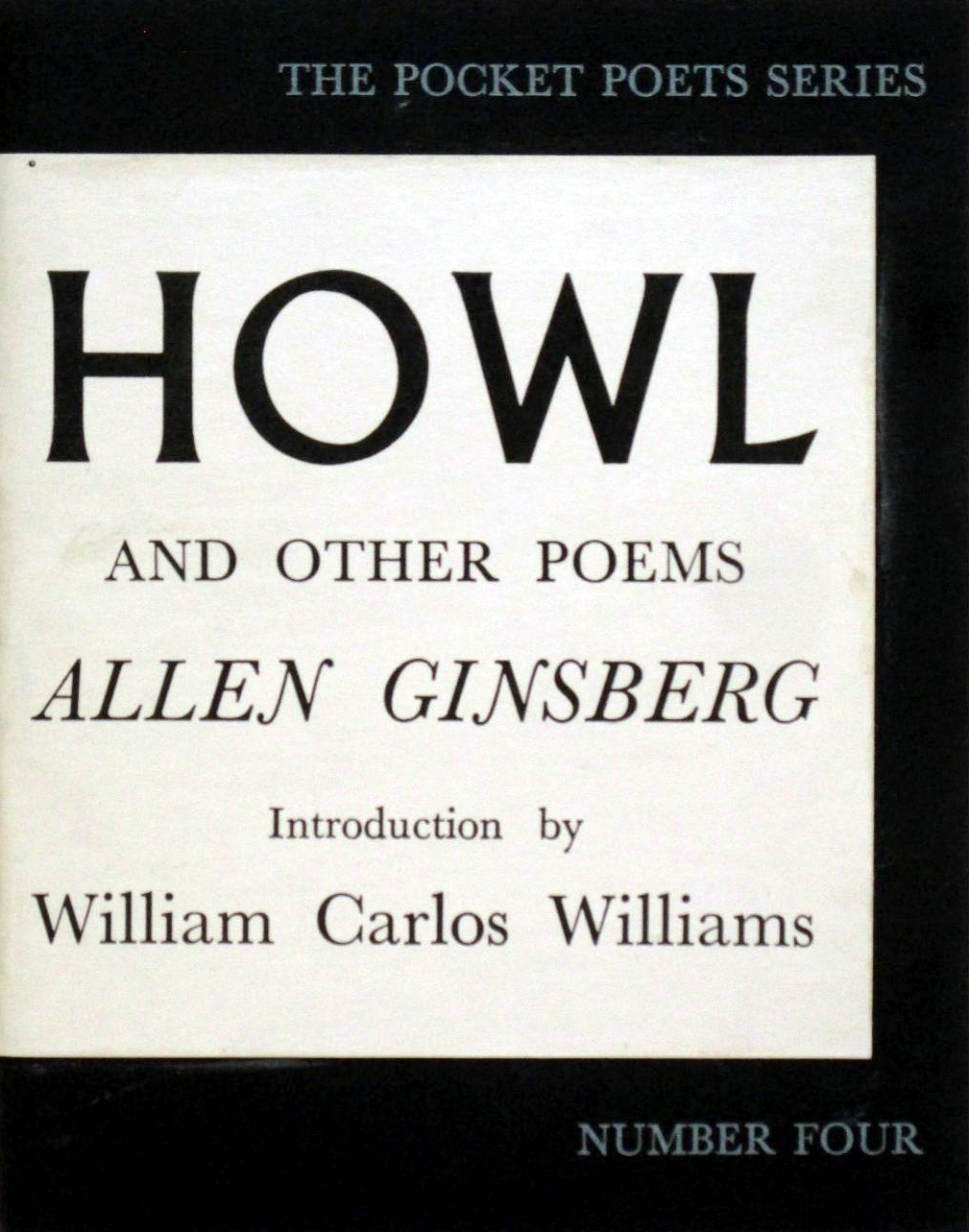 """Cover of the first edition of Ginsberg's Howl and Other Poems, in which """"A Supermarket in California"""" was first published on November 1, 1956."""