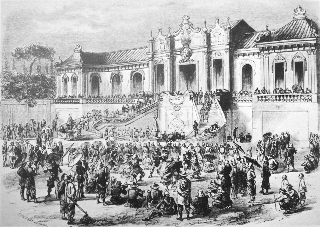 Looting of the Yuanming Yuan by Anglo-French forces. Godefroy Durand (1832–1896).