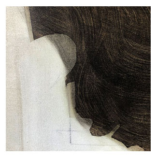 """Diotima of Mantinea,"" by Nikoleta Sekulovic. Detail."