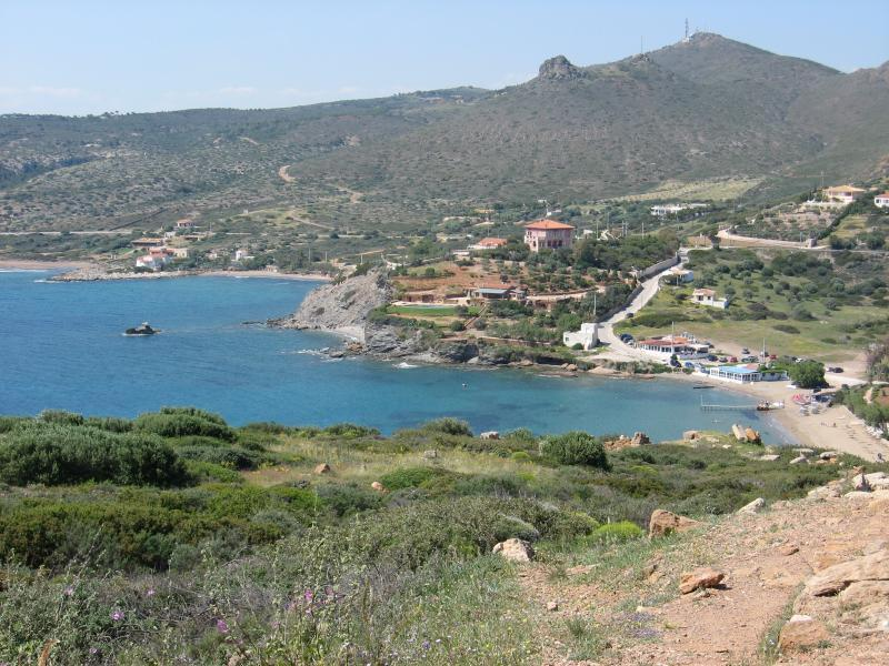 The bay west of Cape Sounion.
