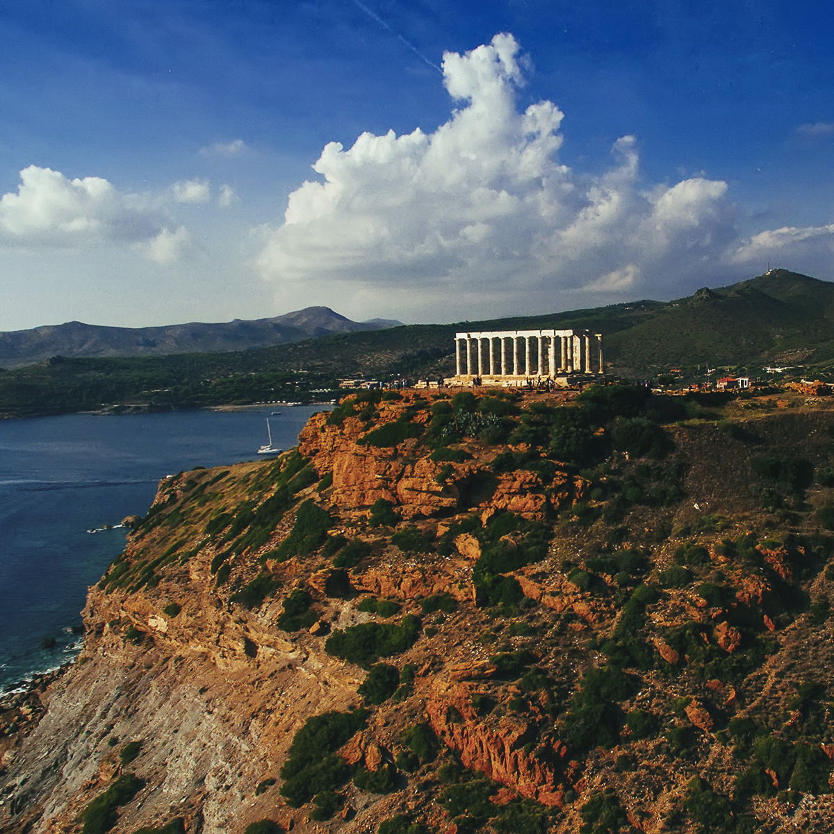 Cape Sounion from the east.