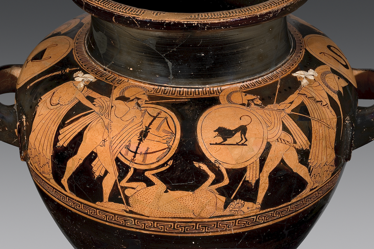 Athenian red-figure stamnos attributed to Triptolemos Painter, ca. 500–450 BCE.